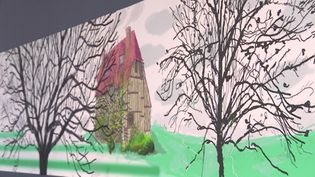 "Exposition David Hockney ""A year in Normandie"" au musée de l'Orangerie (France 3 Normandie)"