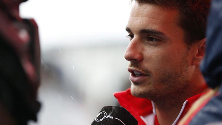 Le pilote de F1 Jules Bianchi, lors d'une conférence de presse avant le Grand Prix de Suzuka (Japon), le 2 octobre 2014. (YUYA SHINO / REUTERS)
