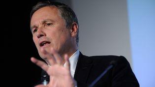Nicolas Dupont Aignan. Président du mouvement souverainiste Debout la République lors de la convention national de son parti à Paris 06/04/2013 (WITT / SIPA)