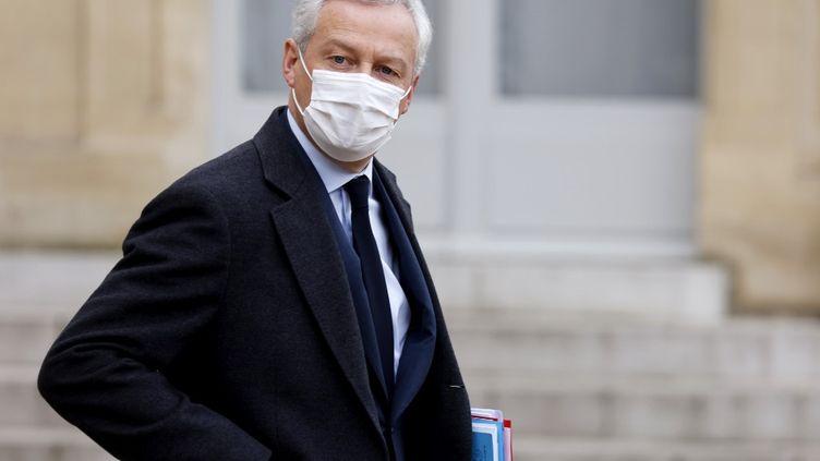 Le ministre de l'Economie, Bruno Le Maire, à l'Elysée, à Paris, le 20 janvier 2021. (LUDOVIC MARIN / AFP)