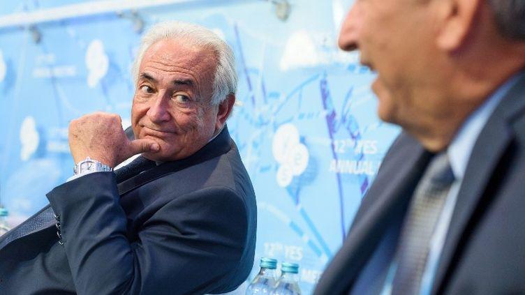 L'ancien directeur du FMI, Dominique Strauss-Kahn, à Kiev (Ukraine), le 11 septembre 2015. (YALTA EUROPEAN STRATEGY PRESS OF / ANADOLU AGENCY / AFP)