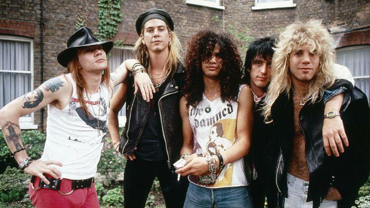 (Les Guns 'N' Roses, ici en 1986, pourraient revenir à l'occasion du festival de Coachella en avril © Ilpo Musto / Rex Featur/REX/SIPA)