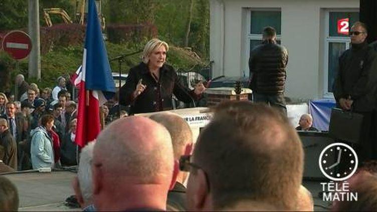 Marine Le Pen était dans la Somme jeudi 4 mai. (FRANCE 2)