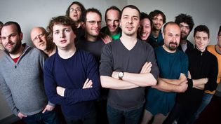 Fred Maurin (au centre) et les musiciens de Ping Machine  (Christophe Alary)
