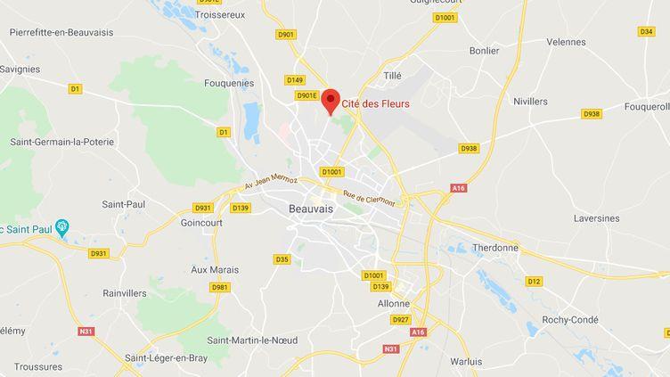Les faits se sont déroulés dans le quartier des Fleurs, à Beauvais (Oise). (GOOGLE MAPS)