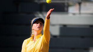 La Danoise Clara Tauson lors du deuxième tour de Roland Garros, le 1er octobre 2020.  (ROB PRANGE / SPAINDPPI)
