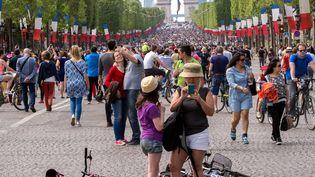 Les Champs-Elysées à Paris, le 8 mai 2016. (MAXPPP)
