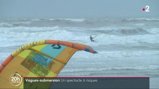 Pas-de-Calais : l'alerte vagues-submersion offre un spectacle à risques aux curieux
