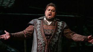 """Johan Botha le 31 décembre 2004 sur la scène du Metropolitan Opera de New York, dans le rôle de Calaf dans l'opéra """"Turandot""""' de Puccini  ( Hiroko Masuike  /AP / Sipa)"""