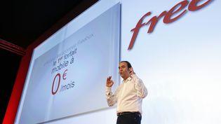 Xavier Niel, fondateur d'Iliad, maison-mère de Free, le 10 janvier 2012 à Paris. (THOMAS COEX / AFP)