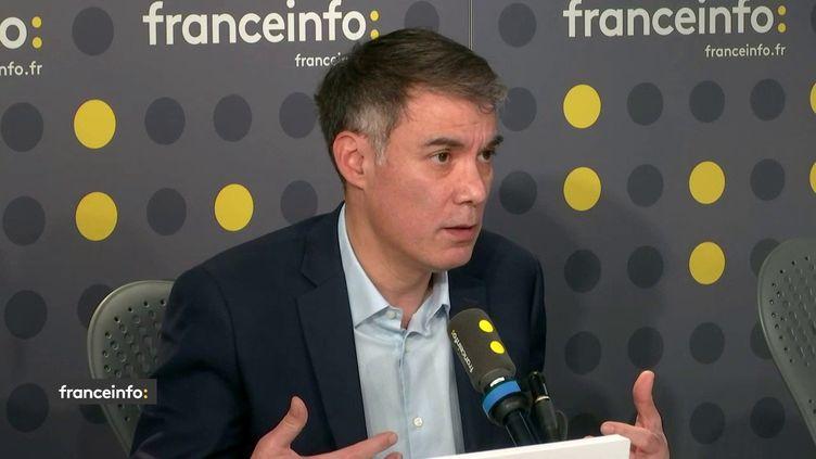 Olivier Faure, invité de franceinfo lundi 20 janvier 2020. (FRANCEINFO / RADIOFRANCE)