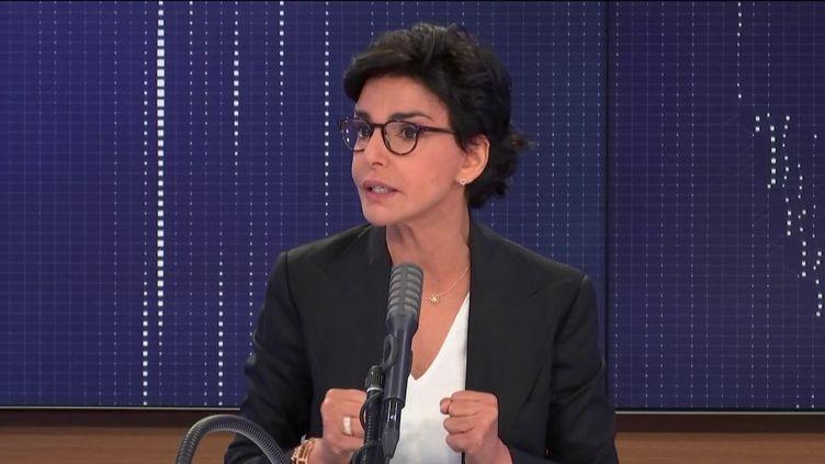 """Rachida Dati, candidate Les Républicains à la mairie de Paris était l'invitée du """"8h30 franceinfo"""", vendredi 26 juin 2020. (FRANCEINFO / RADIO FRANCE)"""