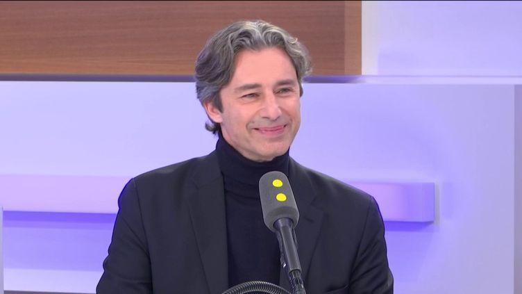 Laurent Solly, directeur général de Facebook France, invité éco le 24 février 2020. (FRANCEINFO / RADIOFRANCE)
