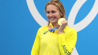 Ariarne Titmus, sacrée championne olympique du 200 m nage libre. (TAKUMI HARADA / YOMIURI)