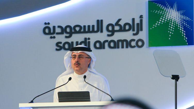 Le PDG de l'entreprise Aramco, Amin Nasser, le 3 novembre 2019 à Dhahran (Arabie Saoudite). (AFP)