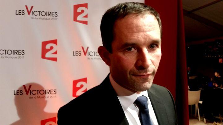 """Benoit Hamon promet une """"très belle orchestration""""s'il gagne l'élection présidentielle. (RADIO FRANCE / BENJAMIN ILLY)"""