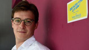Sacha Houlié, député de la Vienne et co-fondateur des Jeunes avec Macron, à Poitiers, le 16 juin 2017. (GUILLAUME SOUVANT / AFP)