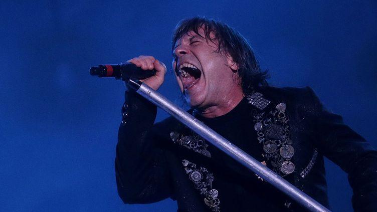 Le chanteur de Iron Maiden Bruce Dickinson à Rock in Rio en 2013.  (WILTON JUNIOR / Agência Estado / AFP)