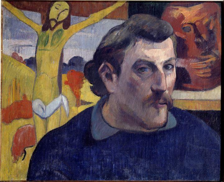 Portrait de l'artiste au Christ jaune par Paul Gauguin (1890-1891)  (Photo Josse / Leemage)