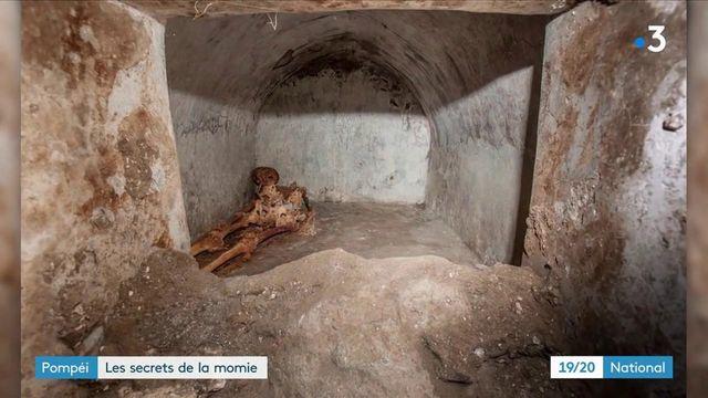 Pompéi :les archéologues ont découvert une momie très bienconservée