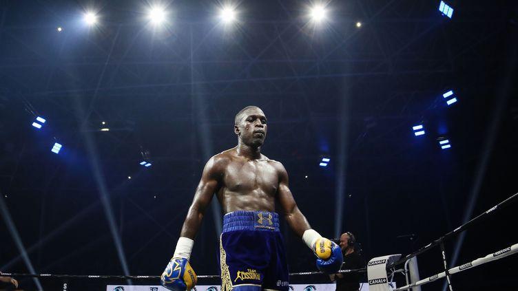 Souleymane Cissokho lors de son combat à Nantes, le 28 septembre 2019. (MAXIME LE PIHIF/SIPA)
