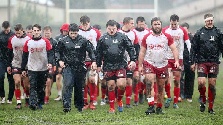 Les joueurs du Stade langonnais s'avancent vers l'élite du rugby amateur, en Fédérale 1