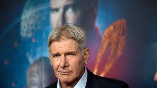 """L'acteur américain Harrison Ford à la première du film """"Ender's Game"""", à Berlin, en Allemagne, le 6 octobre 2013. (JÖRG CARSTENSEN / DPA / AFP)"""