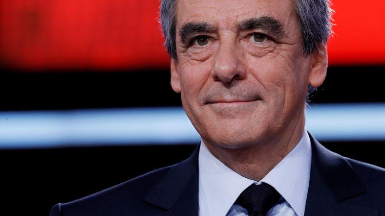 François Fillon sur le plateau de France 2, le 23 mars 2017. (THOMAS SAMSON / AFP)