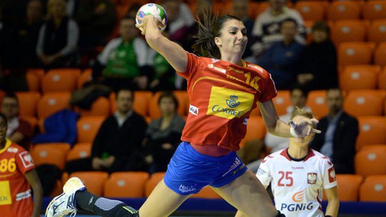 L'Espagnole Elisabeth Chavez (ATTILA KISBENEDEK / AFP)