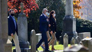 Le président élu Joe Biden se rend dans une églisede Wilmington, Delaware (Etats-Unis), dimanche 8 novembre 2020. (ANGELA WEISS / AFP)