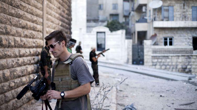 Le reporter James Foley à Alep, en Syrie, en septembre 2012. (MANU BRABO / AP / SIPA)