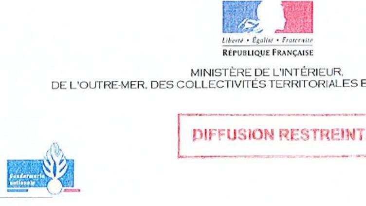 Une des circulaires de la gendarmerie (DR)