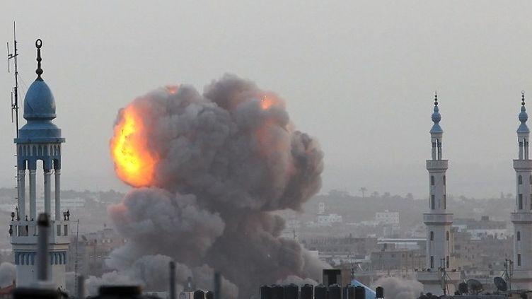 Bombardement sur Gaza, le 17 novembre 2012. (MAJDI FATHI / AFP)