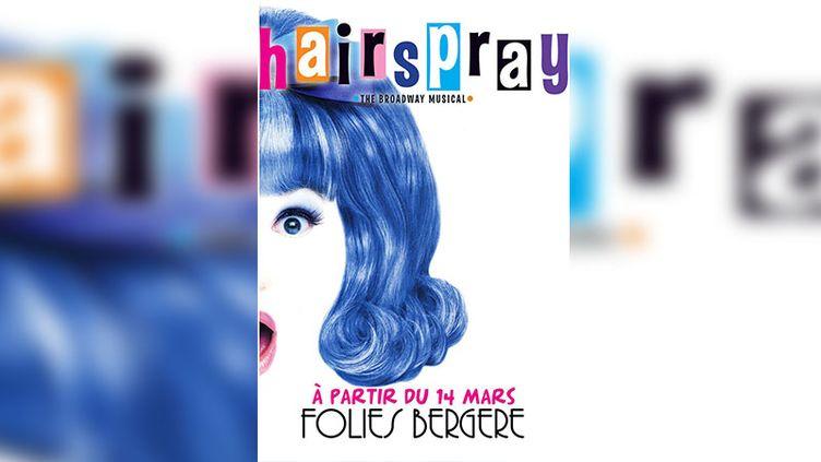 """L'affiche de la comédie musicale """"hairspay"""" aux Folies Bergères, à Paris. (CAPTURE ECRAN DE L'AFFICHE SUR LE SITE DES FOLIES BERGERES)"""