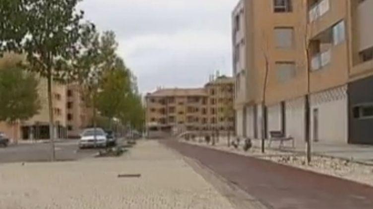 Capture d'écran - La ville de Valdeluz (Espagne), où des quartiers entiers sont inhabités. (CAROLINE THEBAUD ET FLORIAN LE MOAL / FRANCE 2)