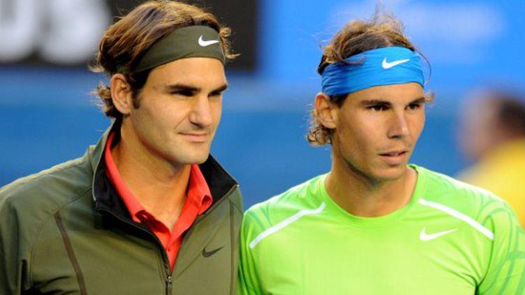 Nadal et Federer (GREG WOOD / AFP)