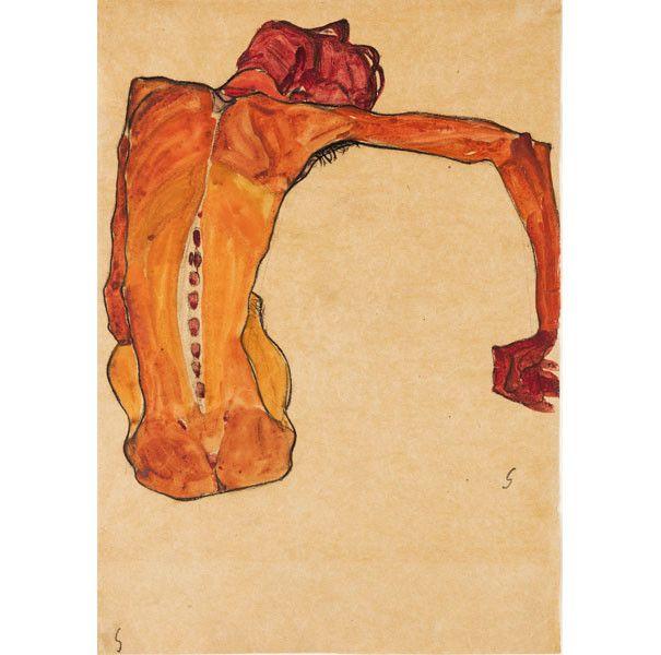 "Egon Schiele, ""Nu masculin assis, vu de dos"", 1910,Neue Galerie New York. Don de la Serge and Vally Sabarsky Foundation, Inc.  (Photo : © Hulya Kolabas for Neue Galerie New York)"