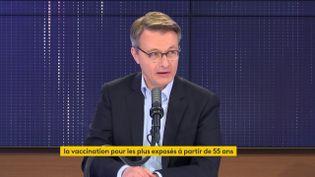Dominique Schelcher, président de Système U, était l'invité du 8h30 franceinfo jeudi 22 avril 2021. (FRANCEINFO / RADIOFRANCE)