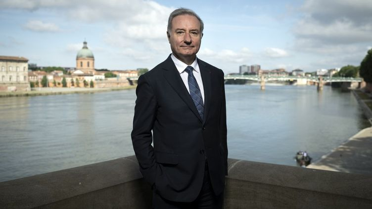 Jean-Luc Moudenc, maire (Les Républicains) de Toulouse, le 10 juin 2020. (LIONEL BONAVENTURE / AFP)
