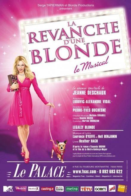 """Affiche de la comédie musicale """"La revanche d'une blonde""""  (DR)"""