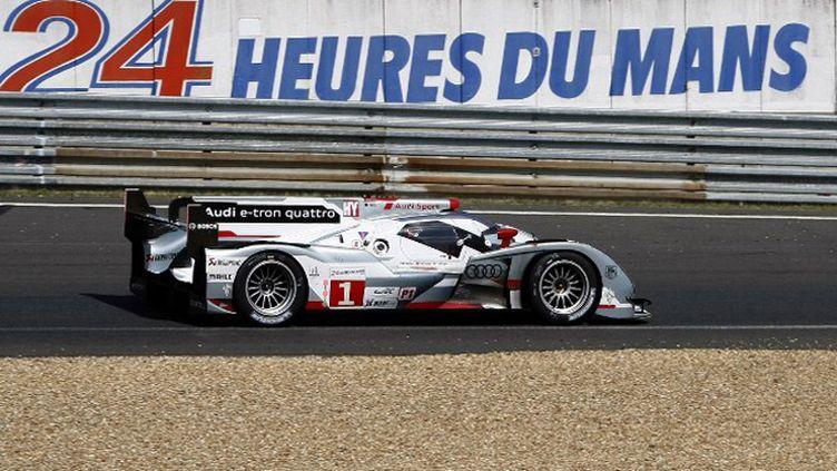 L'Audi e-tron quattro N.1 a remporté les 24 Heures du Mans (CHARLY TRIBALLEAU / AFP)