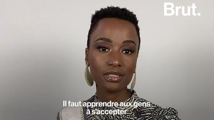 """VIDEO. """"Prenez davantage la parole, utilisez votre voix"""" : le message de la Miss Univers 2019 Zozibini Tunzi (BRUT)"""