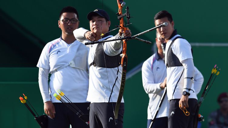Favoris de la compétition, les Coréens se sont parés d'or (JEWEL SAMAD / AFP)