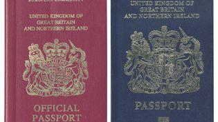 Le Royaume-Uni retrouvera son ancien passeport bleu après le Brexit, avait annoncé le ministère de l'Intérieur, le 22 décembre 2017. (UK PASSPORT OFFICE / AFP)