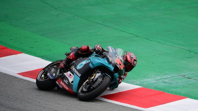 Fabio Quartararo à l'occasion du Grand Prix de Catalogne. (LLUIS GENE / AFP)
