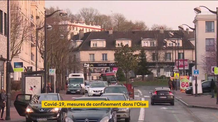 L'Oise et la commune de La Balme-de-Sillingy (Haute-Savoie) sont les deux principaux foyers de l'épidémie, samedi 29 février. Tous les rassemblements y sont désormais interdits. (FRANCEINFO)