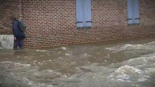 Intempéries : la commune de Sap-en-Auge touchée par d'importantes inondations. (FRANCE 2)
