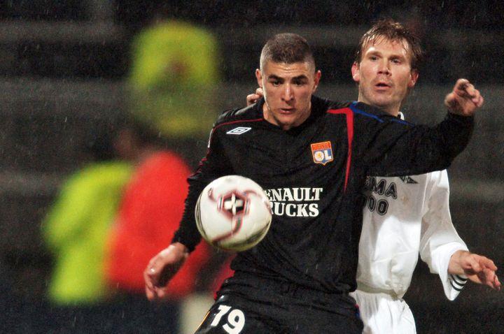 KarimBenzema lors de son premier match de Ligue des champions, face à Rosenborg en décembre 2005 (MARTIN BUREAU / AFP)