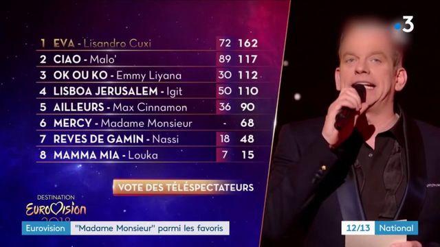 """Eurovision : """"Madame Monsieur"""" parmi les favoris"""