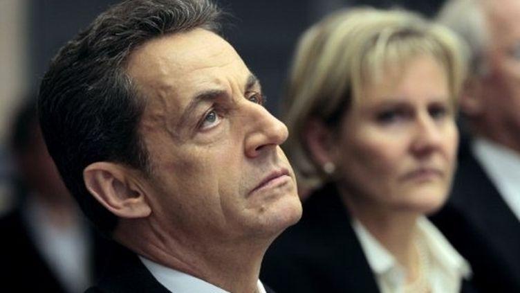 """Selon l'Elysée, Nicolas Sarkozy est """"totalement étranger"""" à l'affaire Karachi. (AFP - Charles Platiau)"""